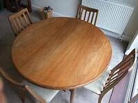 G Plan Teak Dining Room Table (extendable) and 4 Chairs