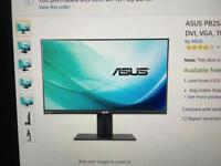Asus PB258Q 25inch IPS Professional monitor mint condition