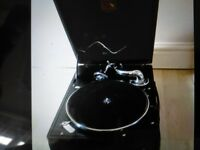 Gramophone, His masters voice, to include records & original tins of needles