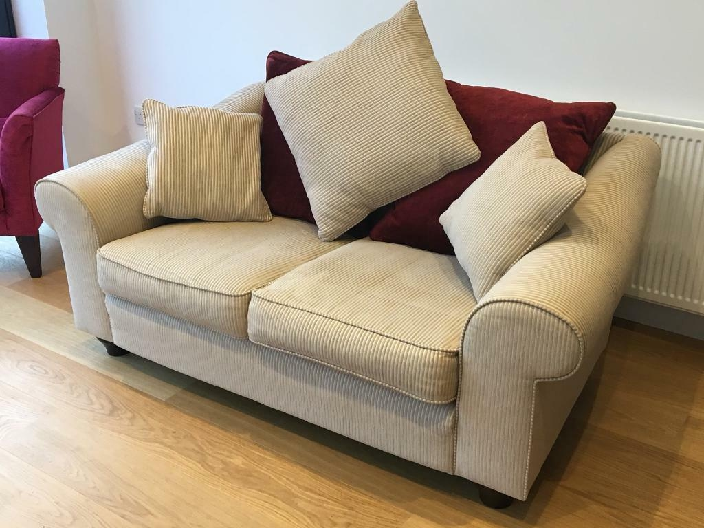 Cream Sofa Settee 2 seater - V.Good Condition!