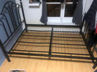 Stainless Steel Double Bed Frame £50