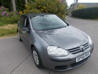 2006 56 VOLKSWAGEN GOLF 1.6 FSI S 5 DOOR HATCHBACK IN LOVELY METALLIC GREY CALL 07791629657