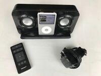 BLACK INTEMPO iPod DOCK Model IDS05B + ORIGINAL REMOTE CONTROL + POWER SUPPLY
