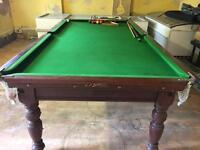 Snooker table Antique Riley RARE