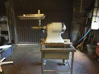 Hobart mincer and butcher sink