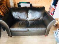 Brown leather sofa £100
