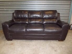 Dark Brown Leather 3+2-seater Suite (Sofa)