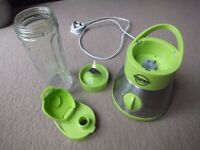 Enpee Personal Blender / smoothies maker with Glass Container, 350 Watt, Lime Green £10
