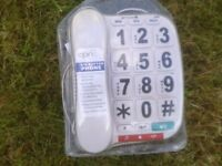 3x big button ,corded telephones