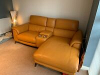 Almost new leather sofa / chair suite