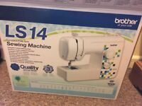 BRAND NEW!!!!! Brother LS14 sewing machine with box and few minor accessories.