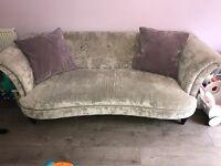 Velvet 3 seater & 2 seater sofas