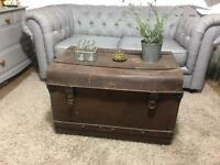 GENUINE VINTAGE TRUNK CHEST FREE DELIVERY 🇬🇧STORAGE BOX COFFEE TABLE
