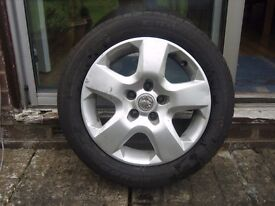 Vauxhall Zafira - 5 Stud Spare Wheel With 205/55 R16 91V Tyre