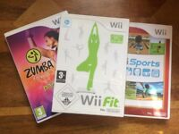 Three games for Nintendo Wii for sale
