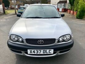 TOYOTA COROLLA 2000 1.6L *** 40000 MILLAGE, 2 OWNERS, 2 KEYS, 1 YEAR MOT***