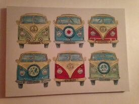 Vw camper wall art