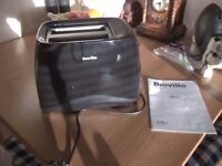 breville two slice toaster, black.only used two weeks.