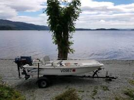 13ft dory by Orkney 40hp + 4hp