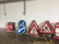 Chapter 8 road signs. Cone mounted and freestanding.