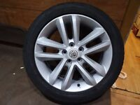 vauxhall vectra spare alloy with new 215 50 17 goodyear tyre both as new £60 opn 7 days 5pm