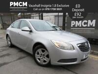 VAUXHALL INSIGNIA 2010 1.8 EXCLUSIVE - ONLY 51,286 MILES - LONG MOT - passat mondeo avensis 2010