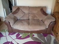 2x2 seater sofas , both the same ,in good condition