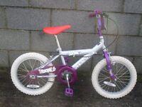silver girl bike 20'' magna
