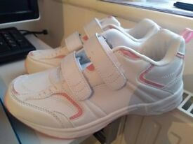 Brand New White and Pink Women's Trainers size 5