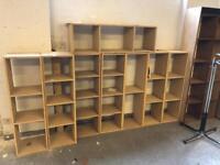 Modular MDF homemade shelving racking for books, vinyl records etc