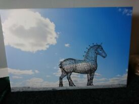 Heavy Horse in Frost: wall canvas