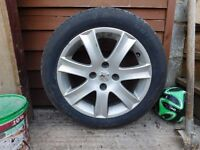Peugeot 207 Tyre & alloy for sale