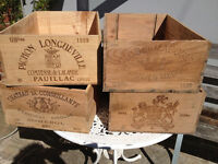 GENUINE OLD VINTAGE WINE BOXES FROM FRENCH VINEYARDS ONE SOLD