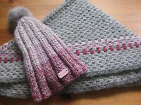 shawl and cap