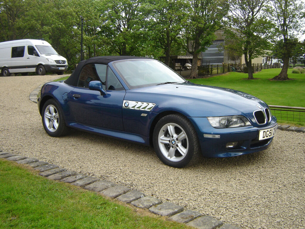 Bmw Z3 1 9 Roadster 2001 Topaz Blue 36k Miles In