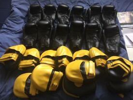 Boxing Gloves and Pads 6 Pairs (job lot)
