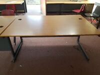 Used Computer Desks for sale. 1500mm wide with cable holes at the back