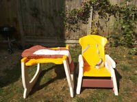 Baby high chair convertible