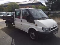 FORD TRANSIT T350 CREW CAB TIPPER 55REG FOR SALE