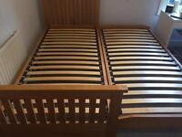 Single bed with fold away second bed