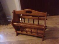 Solid wooden magazine rack
