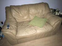 Camel leather sofa - cheap