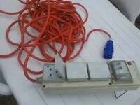 3 outlet camping /caravening electrical hook-up
