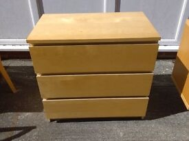 pine 3 draw chests x 8 £30 each