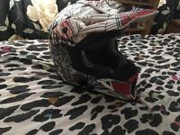 Viper motocross helmet size medium only worn twice