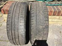 Pair Michelin 185 60 15 tyres