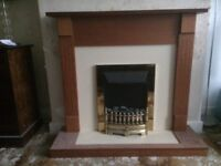 Fire with surround in excellent condition although a little dusty on the photo