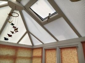 UPVC conservatory approx 3.0m x 3.27m including blinds