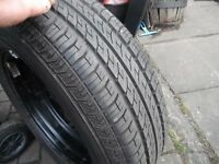 BRAND NEW 195 X 65 X 15 CONTINENTAL FUEL SAVING TYRE , BRAND NEW NEVER USED ON VW GOLF 5 STUD WHEEL