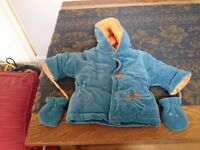 AbsAbsorba Jacket with mittens and hood, 3-6 months for Baby boy